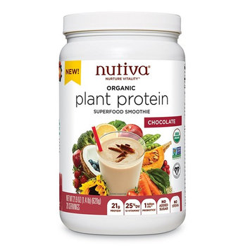 Nutiva Plant Protein Superfood for Shakes and Smoothies, Chocolate, 1.4 Pound [Chocolate]