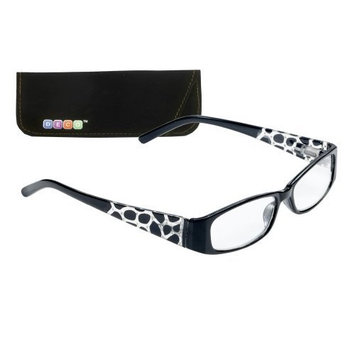 Select-A-Vision Deco Animal Print Frame Reading Glasses, Black, 2.50
