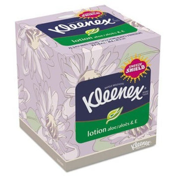Kimberly-Clark 25829 KLEENEX Lotion Facial Tissue, 3-Ply, 75 Sheets, 27 per Carton