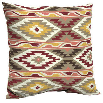 Arden Companies Mainstays Outdoor Patio Dining Pillow Back, Southwest Diamond Coral