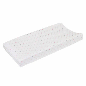 NoJo Aztec Mix & Match Super Soft Changing Pad Cover, Pink, Grey, White, Triangles Velboa