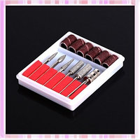 CJESLNA Nail Art 6 Drill File Bits Set Tool for Acrylic Manicure Electric Machine Carver