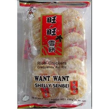 Want Want Big Shelly Shenbei Snowy Crispy Rice Cracker Biscuits - Sugar Glazed 5.30 oz. [Original]