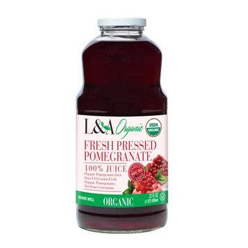 Langer Juice Co. L;A 100% Organic Fresh Pressed Juice, Pomegranate, 32 Fl Oz