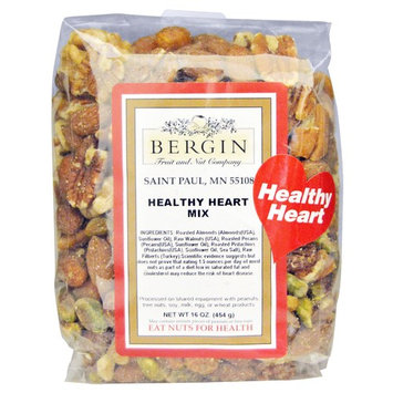 Bergin Nut Company Healthy Heart Nut Mix, 16-Ounce Bags (Pack of 2)