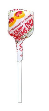 Dum Dum Lollipops, Strawberry, 1-Lb Tub