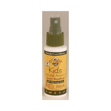 All Terrain Kids DEET-Free Herbal Armor Insect Repellent, 2 Ounce, Safe for Sensitive Skin, Effective Bug Spray Formula with Natural Essential Oils, Great for Travel, Camping, Outdoor Activities