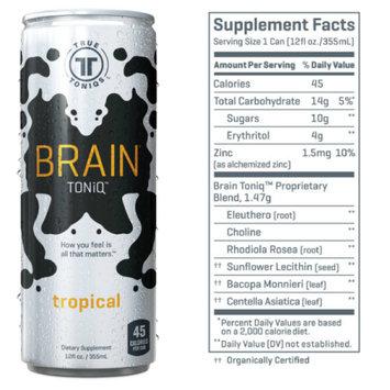 True Toniqs Brain Toniq, Tropical, 12 Fl Oz