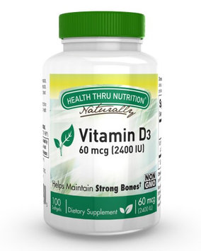 Health Thru Nutrition Vitamin D3 (as cholecalciferol) 2400 IU / 100 Softgels