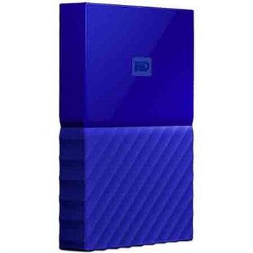 Western Dig Tech. Inc Wd - My Passport 4TB External USB 3.0 Portable Hard Drive - Blue