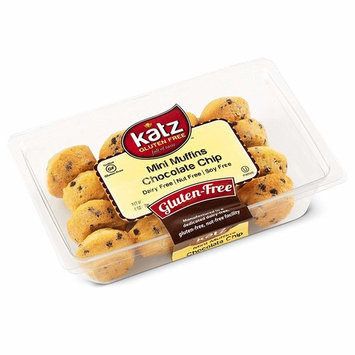 Katz Gluten Free Chocolate Chip Mini Muffins   Dairy, Nut, Soy and Gluten Free   Kosher (1 Pack, 6 Ounce)