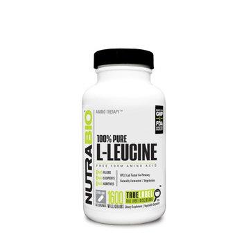 Nutra Bio NutraBio L-Leucine 400 mg Vegetable Capsules, 240 Ct