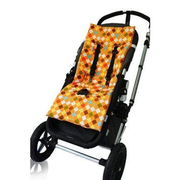 Tivoli Couture Plush Reversible Stroller Liner, Argyle Orange