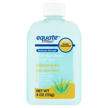 Wal-mart Store, Inc. Equate Maximum Strength Aloe Sunburn Relief Gel, 4 oz