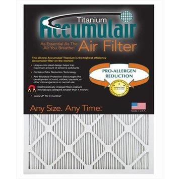 Accumulair® Titanium 16x36x1 (Actual Size) High Efficiency Allergen Reduction Air Filter/Furnace Filters