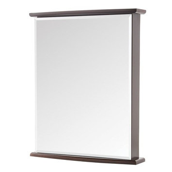 Home Decorators Collection 22 in. W x 27-3/4 in. H Fog Free Frameless Surface-Mount Bathroom Medicine Cabinet in Java