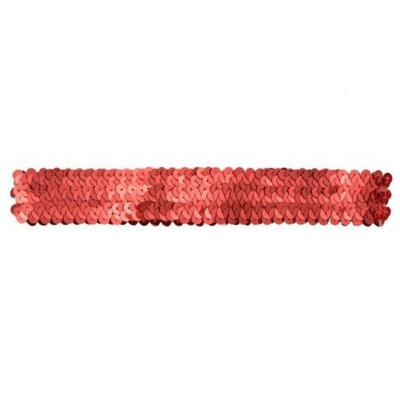 Reflectionz Girls Red Sequin Accented Narrow Headband