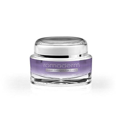 Romaderm- Super Collagen Eye Cream-Dark Circles, Puffiness, Wrinkles and Bags - The Most Effective Anti-Aging Eye Cream for Under and Around Eyes