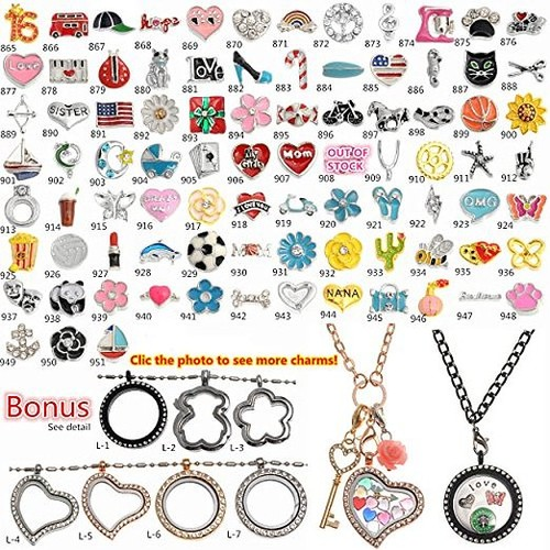 locket charms 1000 Models Choices Floating Charms for Origami Owl Floating Lockets Top Quality Free Shipping [Charm choices clic, 20 charms]