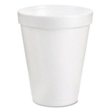 Dart® Drink Foam Cups, Eight Ounces, White, 40 Bags of 25 Per Carton