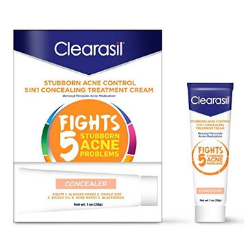 Clearasil Daily Clear Tinted Acne Treatment Cream, 1 oz. (Pack of 8)