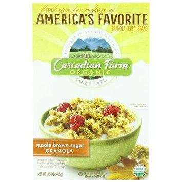 Cascadian Farm Organic Granola, Maple Brown Sugar Cereal, 15 oz (Pack of 6)
