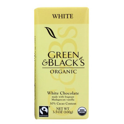 Green & Black's Organic - White Chocolate Bar 30% Cocoa - 3.5 oz(pack of 4)