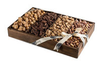 The Nuttery Ny The Nuttery Roasted and Salted Nuts Snack Serving Wooden Tray-Father's Day