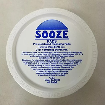 CSI Sooze Pads, Cleansing Pads, 40 Count (4 Pack)