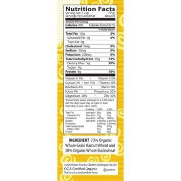 Eden Organic Kamut & Buckwheat Rigatoni, 100% Whole Grain, 12-Ounce Boxes (Pack of 6)