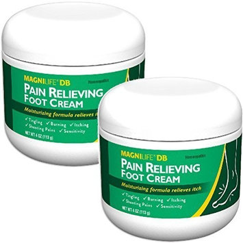(Set/2) MagniLife Pain Relieving Foot Cream - Calms Nerves In Feet And Toes: Health & Personal Care