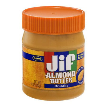 Jif Crunchy Almond Butter, 12 OZ (Pack of 6)