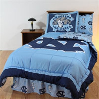 College Covers NCUBBKGW UNC Bed in a Bag King- With White Sheets