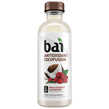 Bai Cocofusions Maui Coconut Raspberry, 18 Fl Oz (CASE of 12)