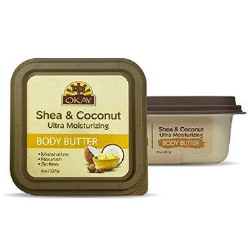 OKAY Shea & Coconut Ultra Moisturizing Body Butter, 8 Ounce