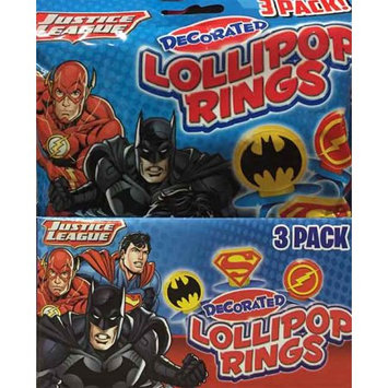Imaginings 3 Flix Candy Justice League 3-pk. Ring Pop