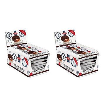 Daelmans Chocolate Caramel Stroopwafels (Box of 12-2 Packs - 24 Wafels Total) PACK OF 2
