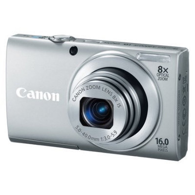 Canon - PowerShot A4000 IS 160-Megapixel Digital Camera - Silver