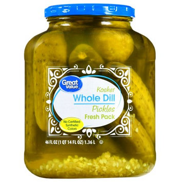 Wal-mart Stores, Inc. Great Value Whole Kosher Dill Pickles, 46 oz
