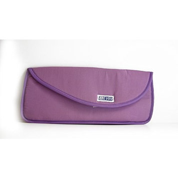 Hair Curling | Flat Iron Travel Case ~ Heat Resistant ~ Solid Light Purple trimmed with Dark Purple