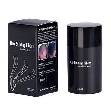 redcolourful Hair Building Fibers Natural Hair Thickening Hair Fiber Disposable - Black