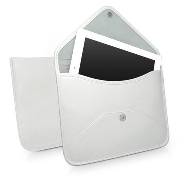 iPad 3 Case, BoxWave® [Elite Leather Messenger Pouch] Synthetic Leather Cover w/Envelope Design for Apple iPad 3 - Ivory White