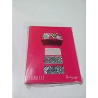Set of five hair ties by Thirty One - glitter, paisley, pink