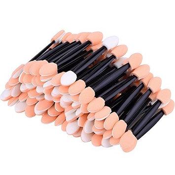 100Pcs Disposable Double Head Eye Shadow Sponge Stick Applicators Makeup Brush