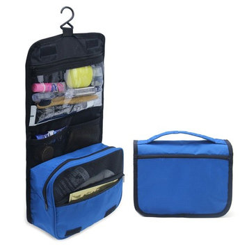 MLMSY Waterproof Hanging Type Travel Toiletry Bag Makeup Bag Travel Organizers For Cosmetic, Shaving, Travel Accessories, Personal Items - Use In Hotel, Home, Bathroom,Car, Airplane (B-Blue)