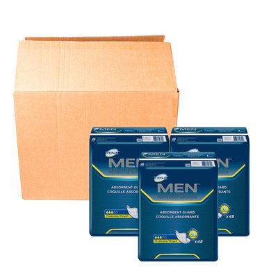 Tena Incontinence Guards for Men, Moderate Absorbency, 144 Count