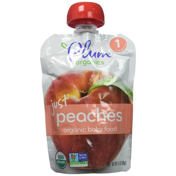 Plum Organics Baby Stage 1 Food, Just Peaches, 3.5 Ounce