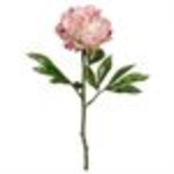 Club Pack of 12 Artificial Light Pink Peony Floral Sprays 22