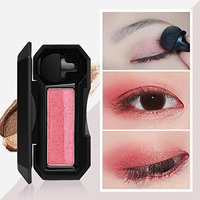 Memela Shimmer Two-color Stamp Eyeshadow Palette Makeup Powder Flexibility Lasting