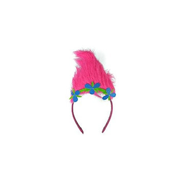 OS Fits Child, Magenta, Trolls Sugar Glitter Headband with Troll hair [1]